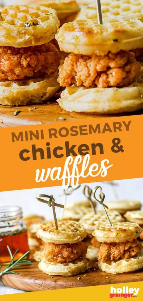 Mini Rosemary Chicken & Waffles from Holley Grainger