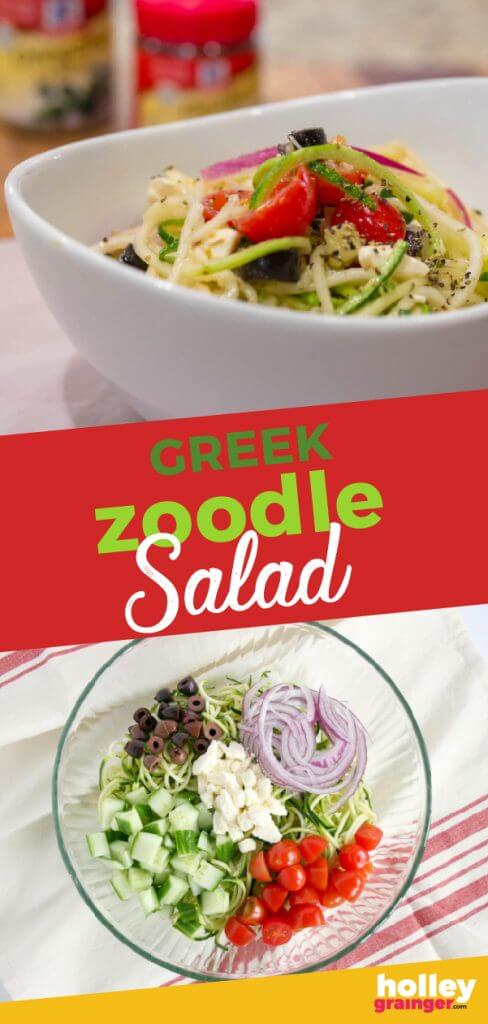 Greek Zoodle Salad from Holley Grainger