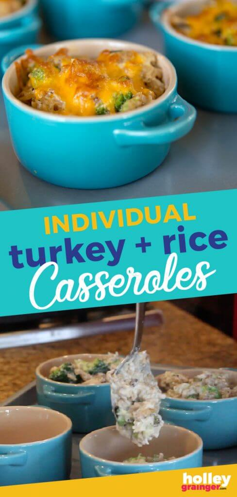 Individual Turkey and Rice Casseroles from Holley Grainger