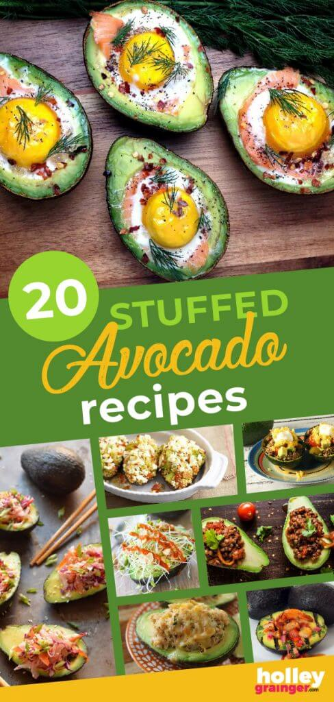 20 Stuffed Avocado Recipes from Holley Grainger