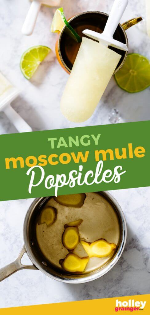 Tangy Moscow Mule Popsicles from Holley Grainger