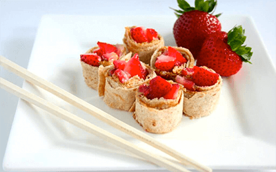 Lunchbox Strawberry Sushi, from Holley Grainger