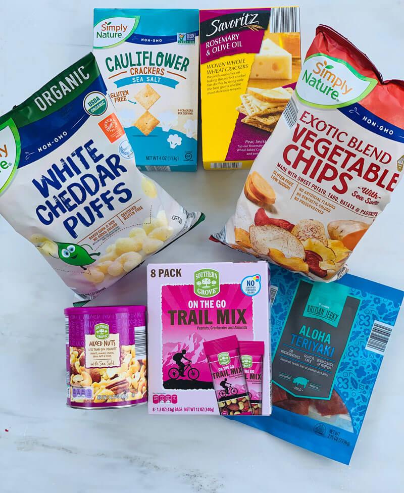 25 Healthy School Snacks from ALDI - salty snacks