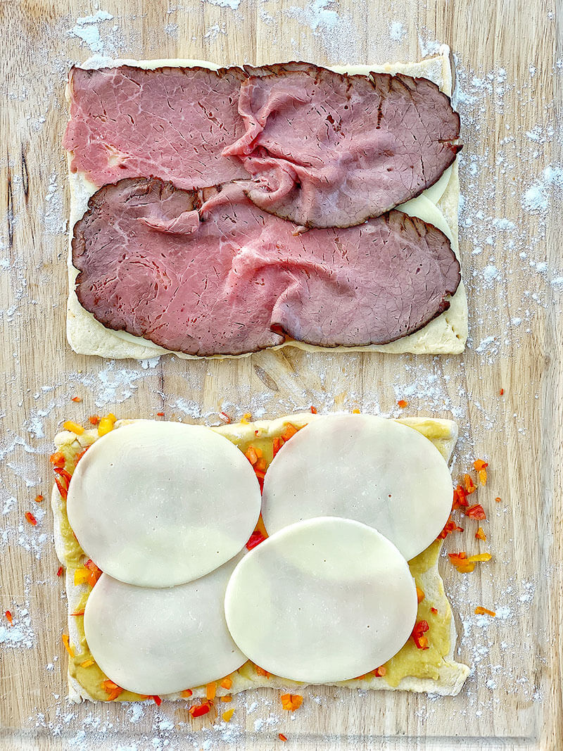 Cheesy Roast Beef Pinwheels, from Holley Grainger