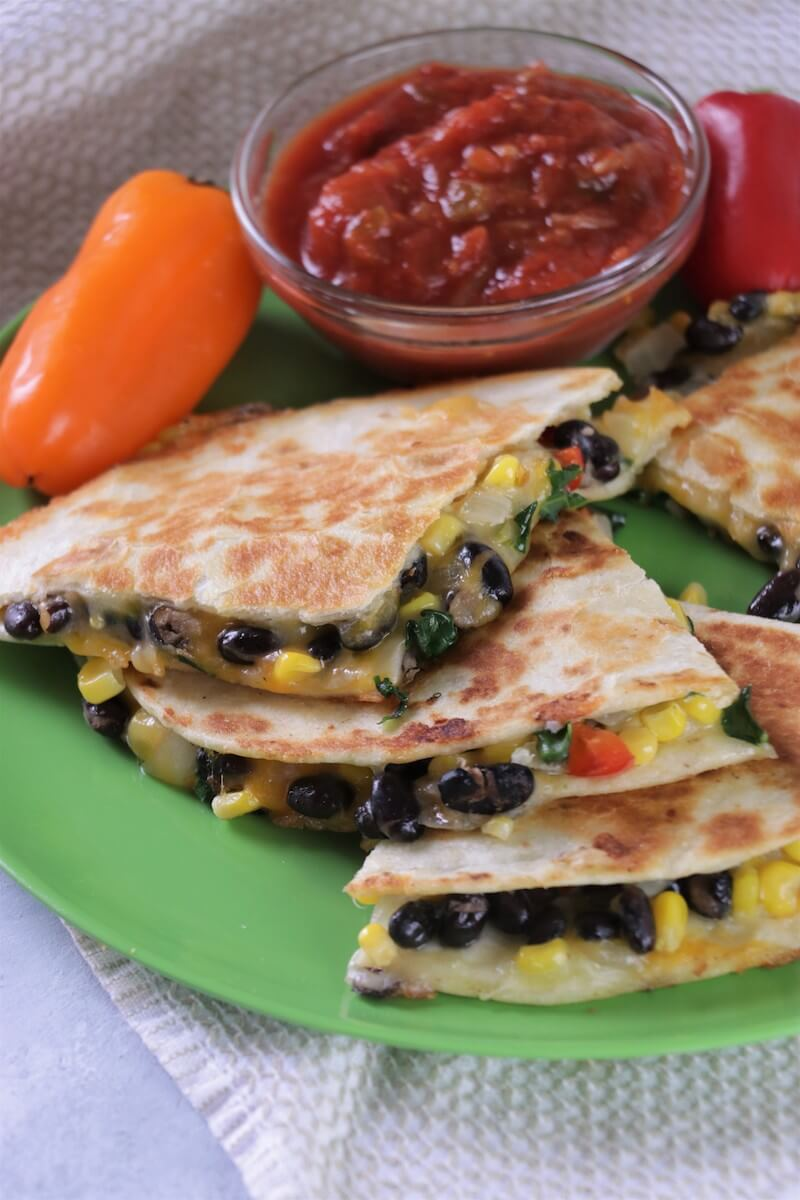 Beans and Greens Quesadilla