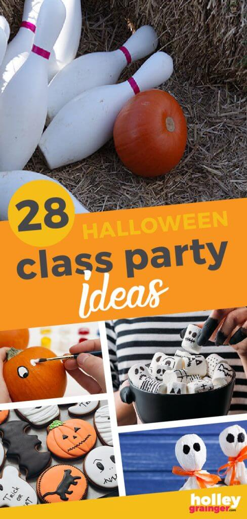 Easy Halloween Class Party Ideas from Holley Grainger