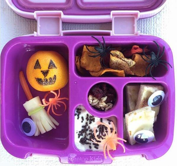 Halloween Lunchbox Ideas from Holley Grainger, with Sharpie Jack-o-lantern orange