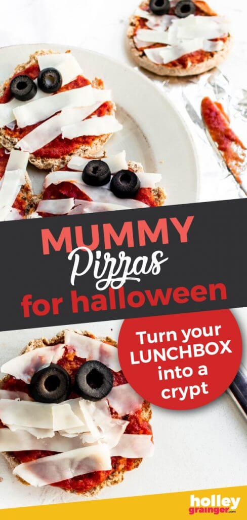 Yummy Mummy Pizzas for Halloween from Holley Grainger