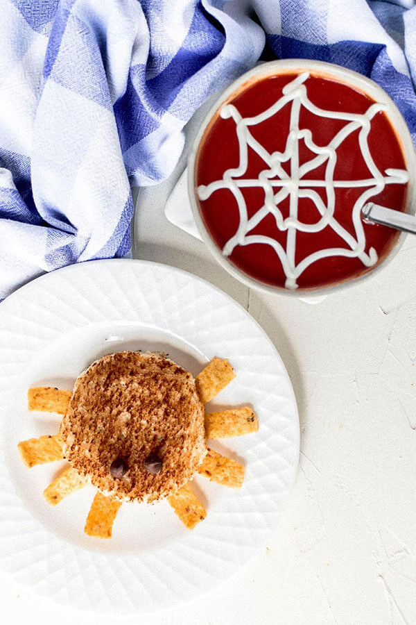 Holley Grainger's Spooky Spider Sandwiches and Cobweb Tomato Soup