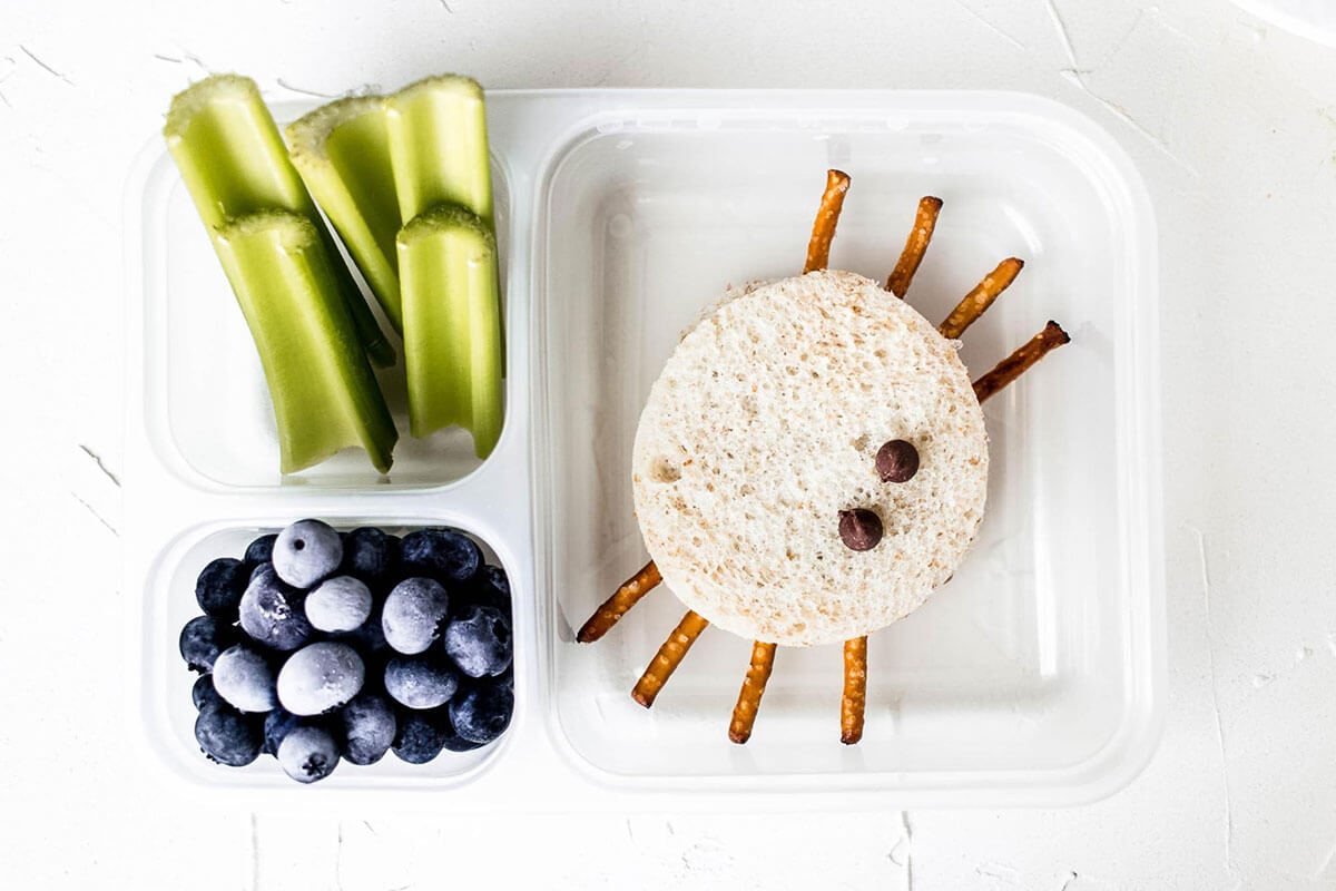 Holley Grainger's Spooky Spider Sandwich and Halloween Lunchbox