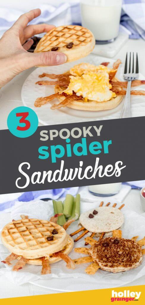 Spooky Spiders Sandwiches from Holley Grainger