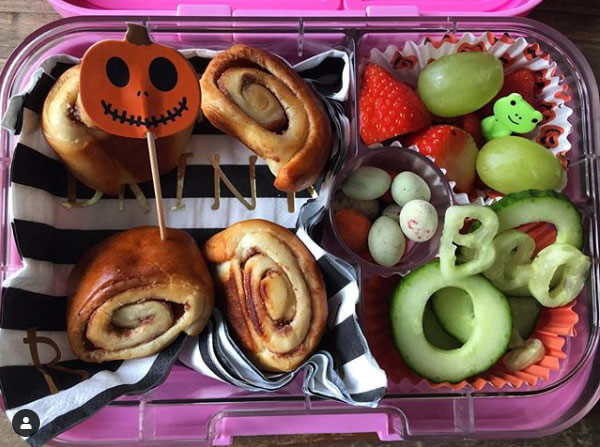 Halloween lunchbox from thehappyhomehelper