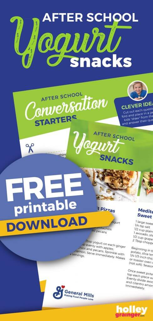 After School Conversation Starters Free Printable