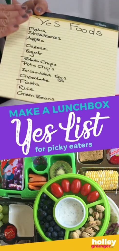 Make a Lunchbox Yes List for Picky Eaters from Holley Grainger