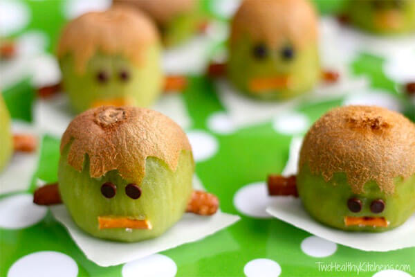 Frankenstein Kiwis via Two Healthy Kitchens