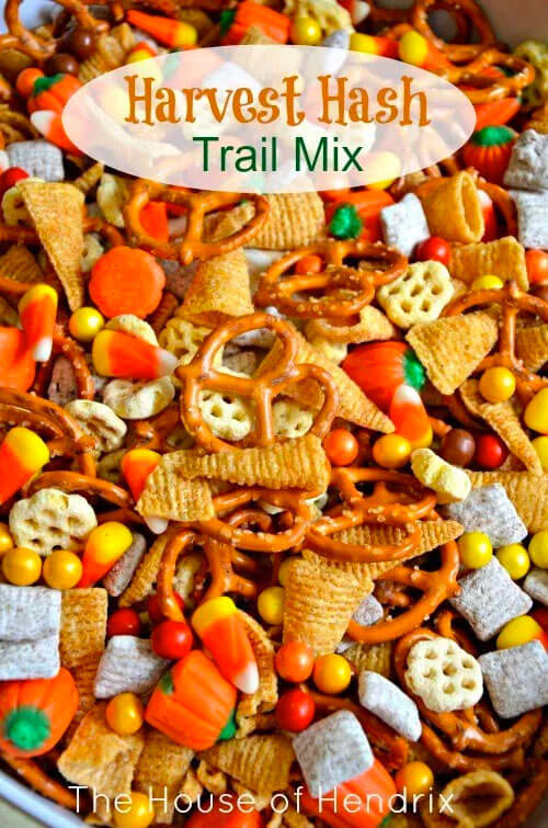 Harvest hash trail mix via The House of Hendrix