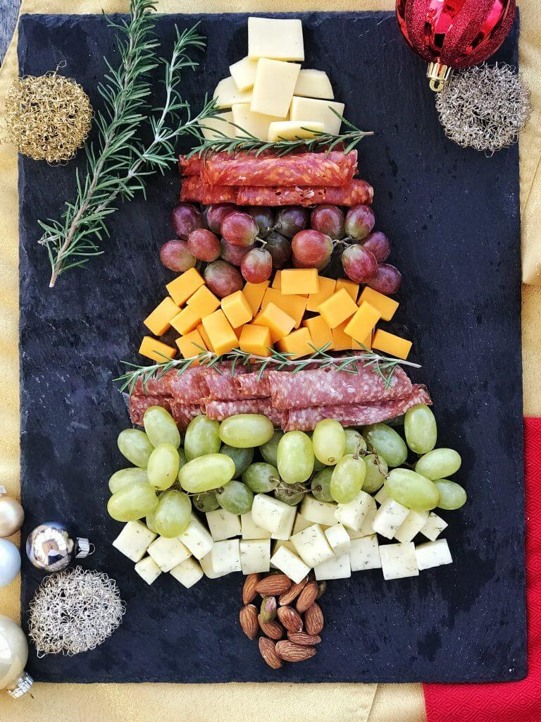 Christmas Tree Charcuterie Board for Holiday Parties from Holley Grainger