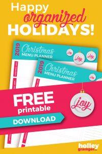 Ultimate Christmas Menu Planner download from Holley Grainger