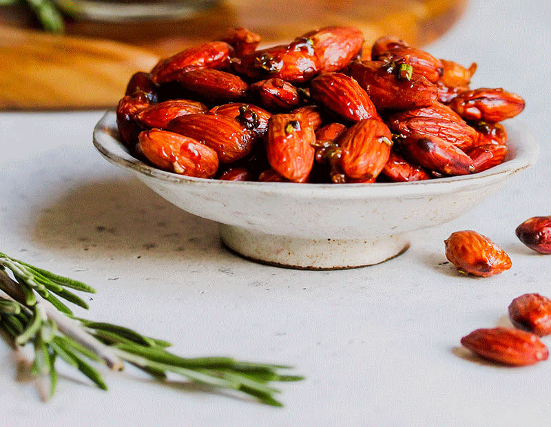 Rosemary Roasted Almonds from Holley Grainger