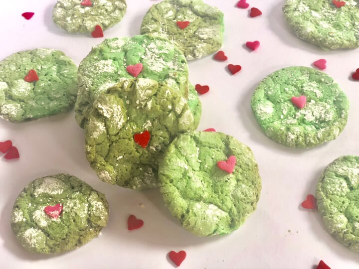 Grinch Cookies - Nut Free Holiday Snacks
