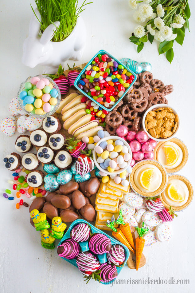 Easy Easter Dessert Candy Board