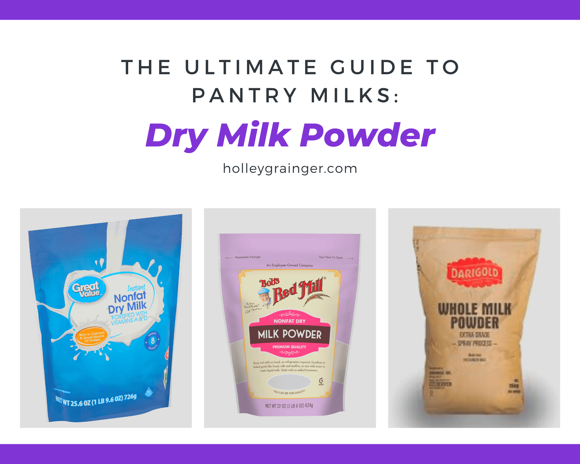 Pantry Milks: Dry Milk Powder