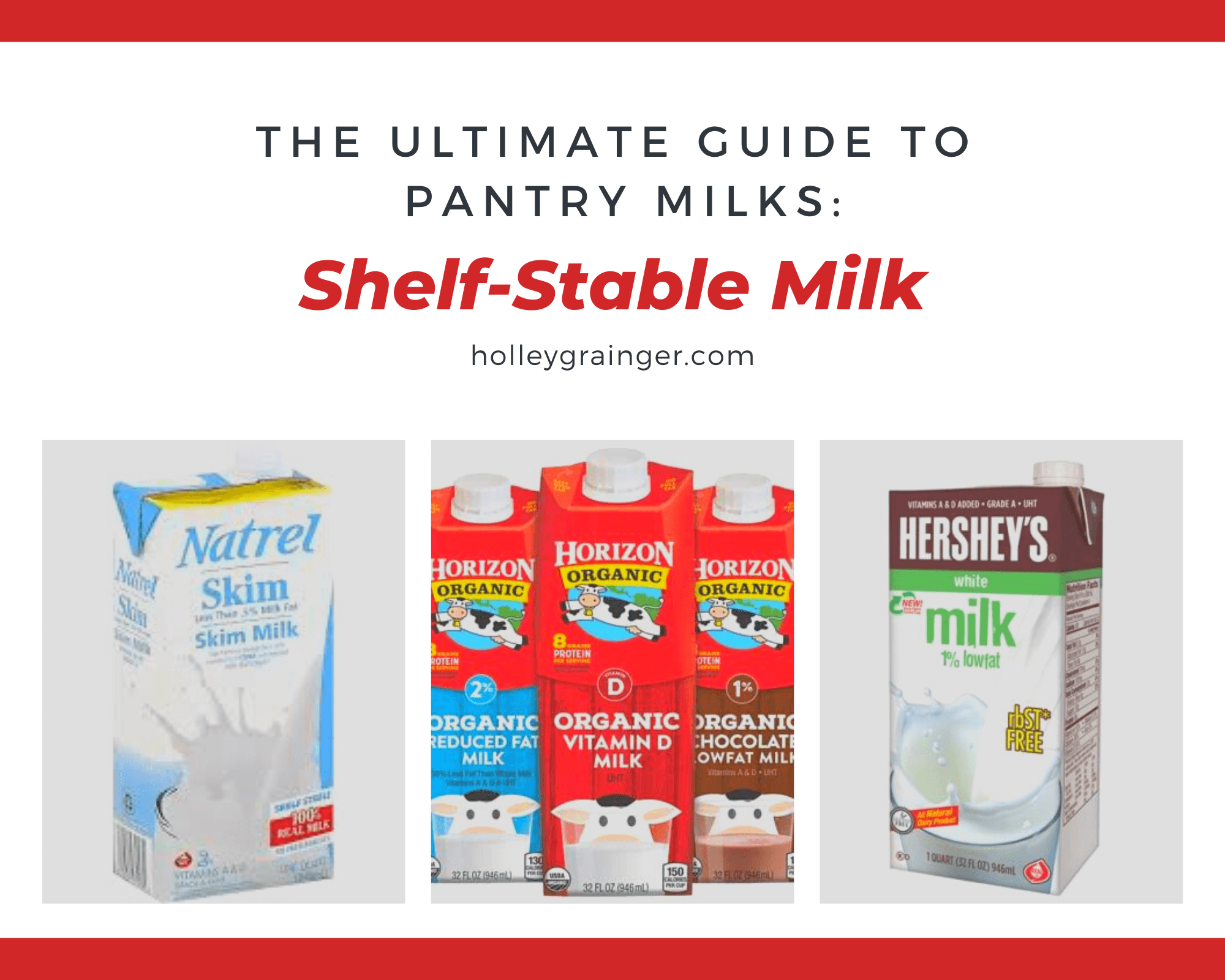 Pantry Milks: Shelf Stable Milk