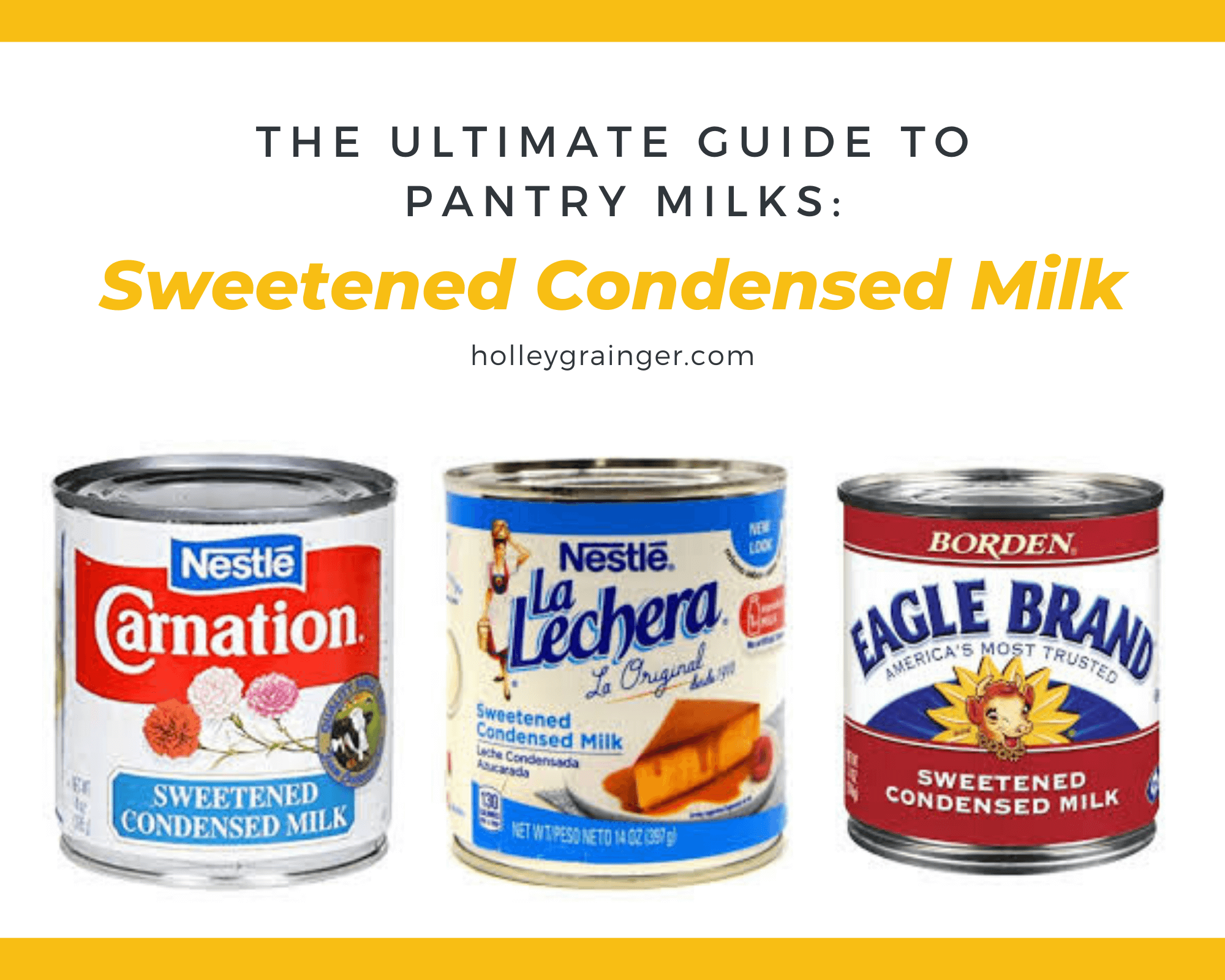 Pantry Milk: Sweetened Condensed Milk