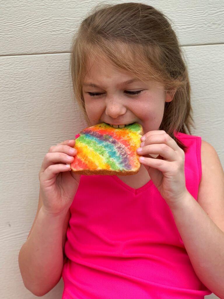 Ellie with Rainbow Toast