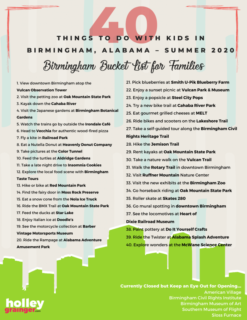 40 Things to Do with Kids in Birmingham - 2020
