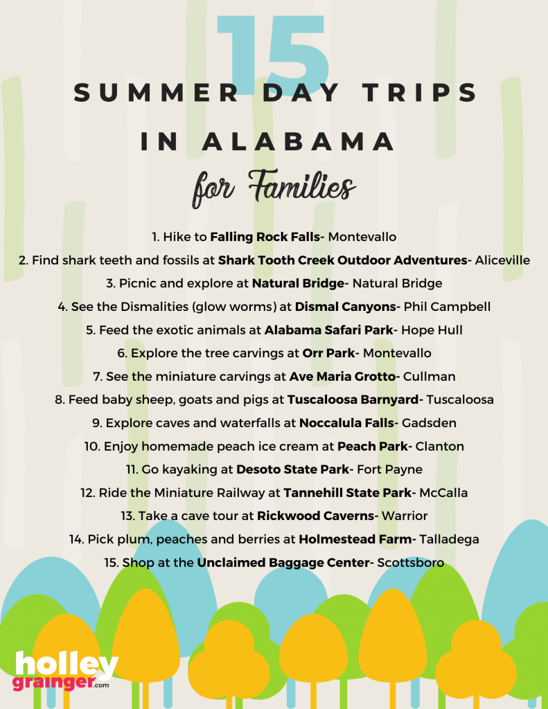 15 Summer Day Trips in Alabama
