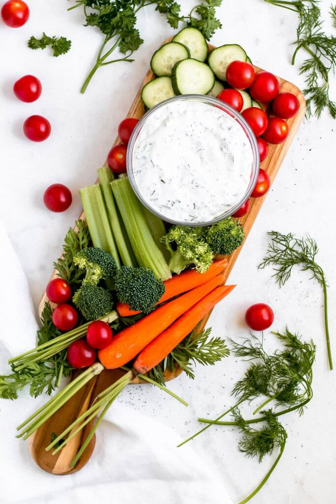 Veggie Board with Ranch Dip