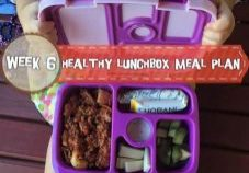 Healthy School Lunchbox Meal Plan