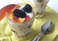 Mason Jar Blackberry and Peach Shortcakes