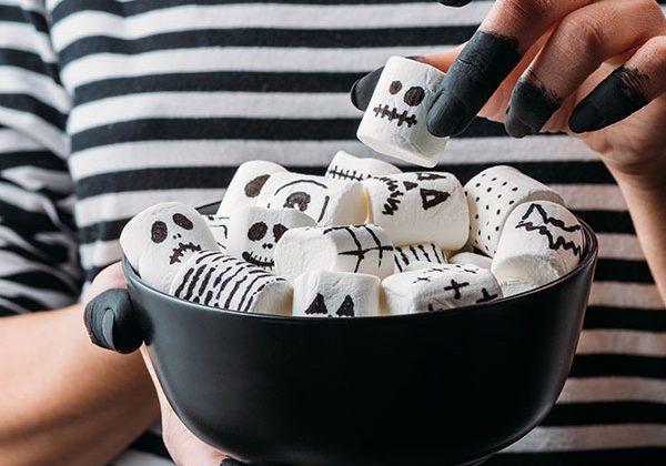 Halloween Marshmallow Toss Game