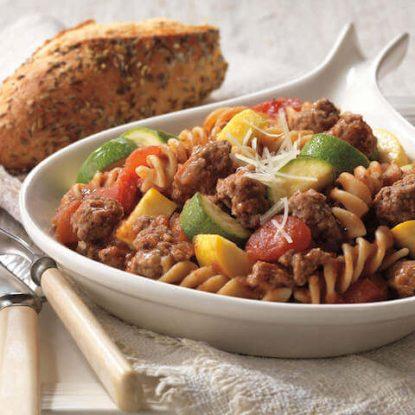 Beef and Pasta Skillet Primavera1