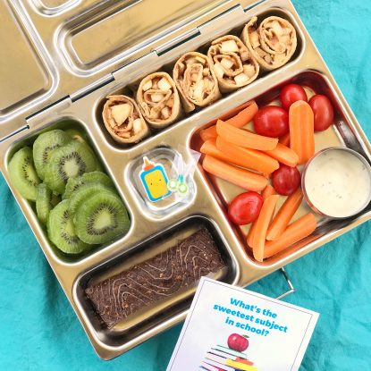 Peanut Butter Apple Roll Ups Lunchbox