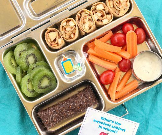 Peanut Butter Apple Roll Ups Lunchbox
