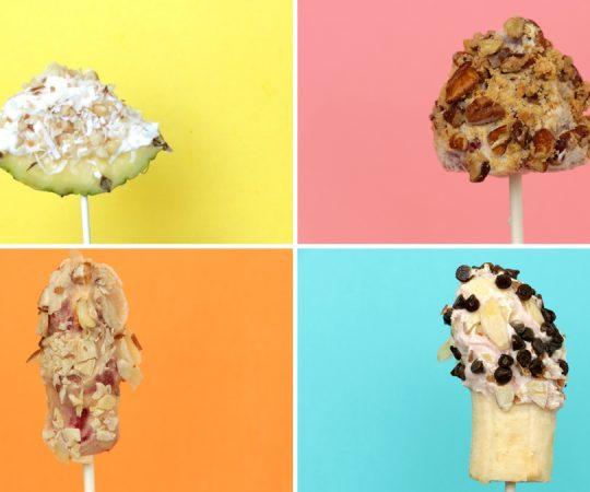 Holley Grainger Dannon Frozen Yogurt Fruit Pops