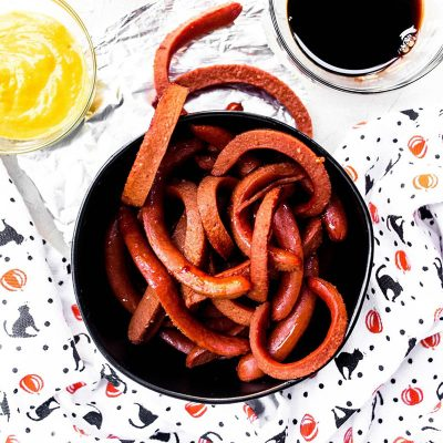 Halloween Hot Dog Worms from Holley Grainger