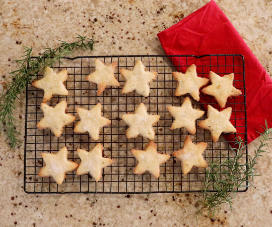 Rosemary Shortbread Cookie Cutouts from Holley Grainger