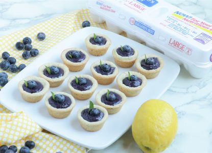 Wild Blueberry and Lemon Cookie Tarts from Holley Grainger