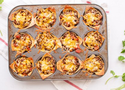 Mini Taco Cups from Holley Grainger