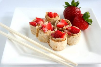 PB & Strawberry Sushi - Lunchbox