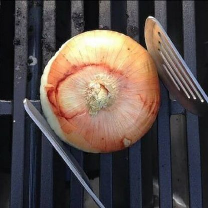 How to Clean the Grill with an Onion