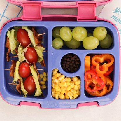 Nut-free BLT Skewer Lunchbox from Holley Grainger