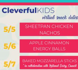 Cleverful Kids: Virtual Snack Date Schedule