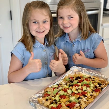 Sheetpan Chicken Nachos